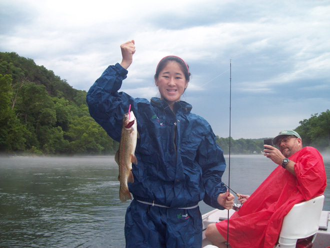 Trout Feeding Habits in and near White River Arkansas